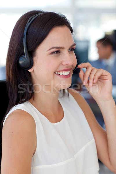 Businesswoman talking on a headset in a call centre Stock photo © wavebreak_media