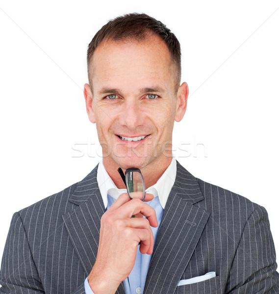 Caucasiano empresário óculos isolado branco Foto stock © wavebreak_media