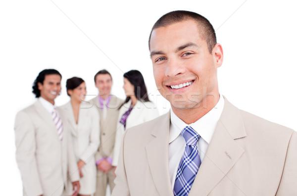 Heureux affaires permanent équipe blanche affaires Photo stock © wavebreak_media