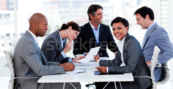 International business people discussing a new strategy Stock photo © wavebreak_media