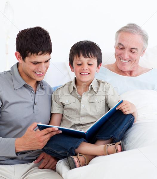 Apa fia nagyapa kórház család gyermek egészség Stock fotó © wavebreak_media