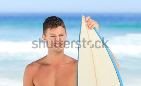 Kadın güneşlenme plaj gökyüzü su kız Stok fotoğraf © wavebreak_media