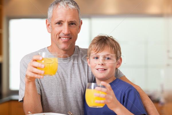 отец завтрак кухне дома улыбка Сток-фото © wavebreak_media