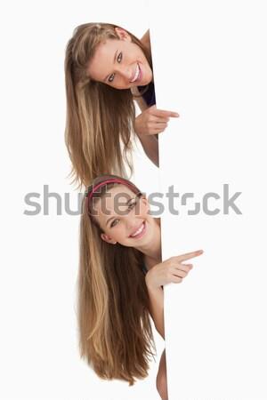 Twee lang haar studenten achter Stockfoto © wavebreak_media