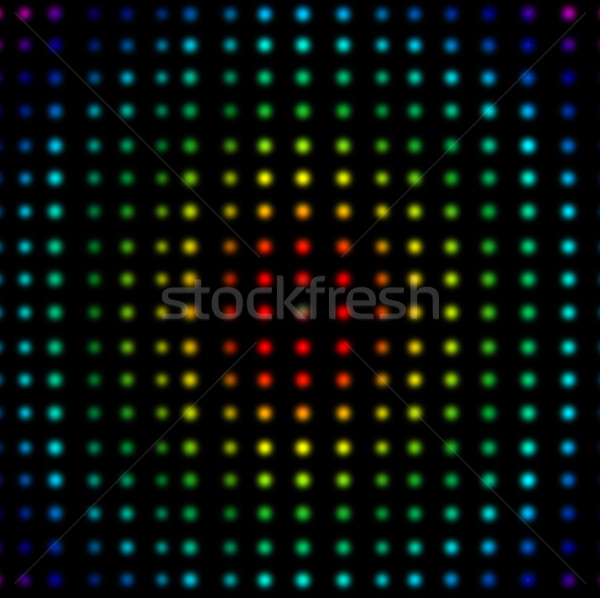 Multicolored dots placed in lines against a black background Stock photo © wavebreak_media