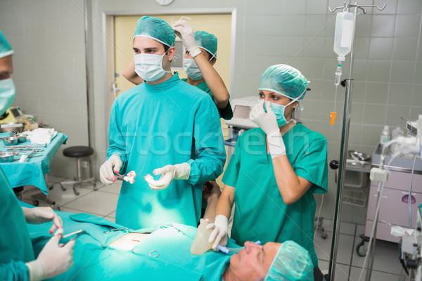 看護 外科医 マスク 劇場 血液 病院 ストックフォト © wavebreak_media