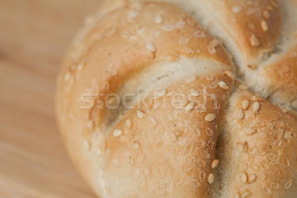 хлеб кунжут деревянный стол продовольствие древесины совета Сток-фото © wavebreak_media