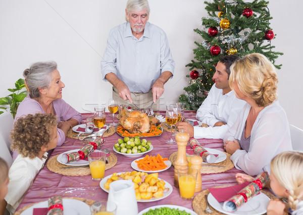 Dede Türkiye Noel akşam yemeği ev adam Stok fotoğraf © wavebreak_media