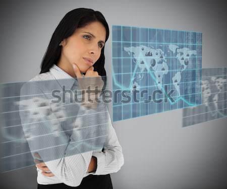 Mujer de negocios mundo ilustración grave tierra gente de negocios Foto stock © wavebreak_media