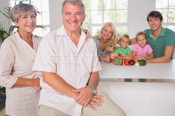 Portrait of grandparents with their family Stock photo © wavebreak_media