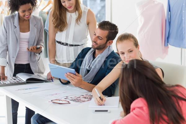Moda tasarımlar grup stüdyo iş Stok fotoğraf © wavebreak_media