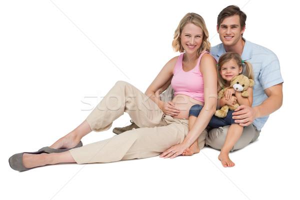 幸せ 小さな 家族 新しい 到着 笑みを浮かべて ストックフォト © wavebreak_media