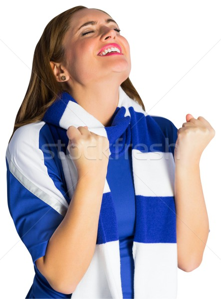 Pretty football fan cheering Stock photo © wavebreak_media