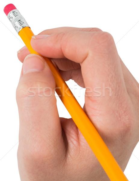стороны карандашом Eraser белый Сток-фото © wavebreak_media