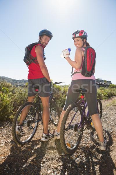 Aktif çift bisiklete binme kadın Stok fotoğraf © wavebreak_media