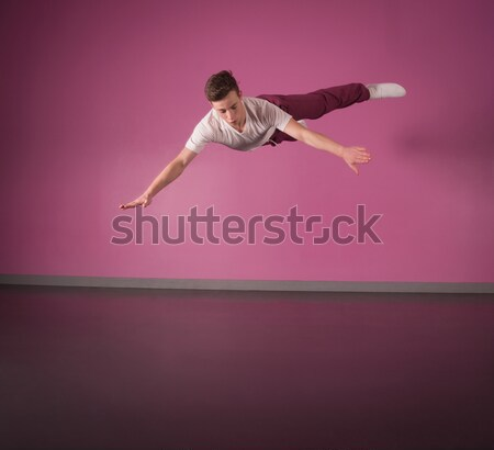 Cool break dancer mid air Stock photo © wavebreak_media