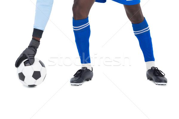 Torhüter blau sparen weiß Fußball Stock foto © wavebreak_media