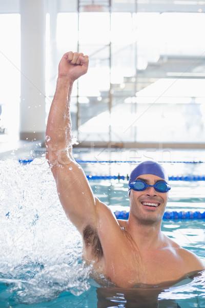 соответствовать пловец бассейна отдыха центр Сток-фото © wavebreak_media