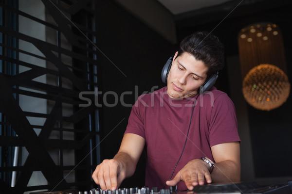 Serin çalışma ses büro gece kulübü müzik Stok fotoğraf © wavebreak_media