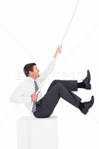 üzletember húz kötél fehér férfi vállalati Stock fotó © wavebreak_media