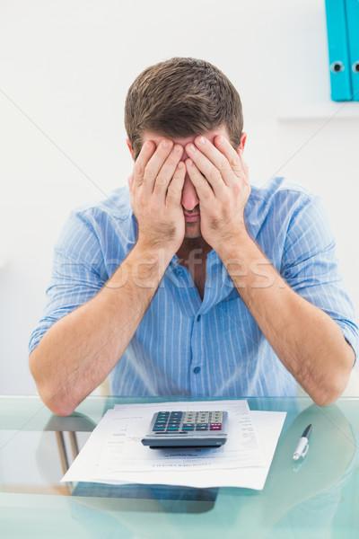 бизнесмен лице столе служба человека Сток-фото © wavebreak_media