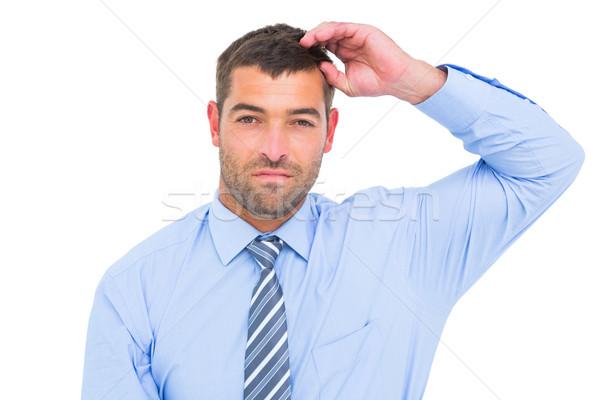 Komoly üzletember néz kamera fehér férfi Stock fotó © wavebreak_media