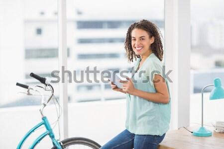笑みを浮かべて セラピスト フィットネス スタジオ 女性 ストックフォト © wavebreak_media