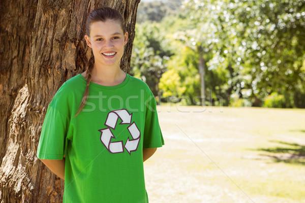Ambiental activista sonriendo cámara parque Foto stock © wavebreak_media