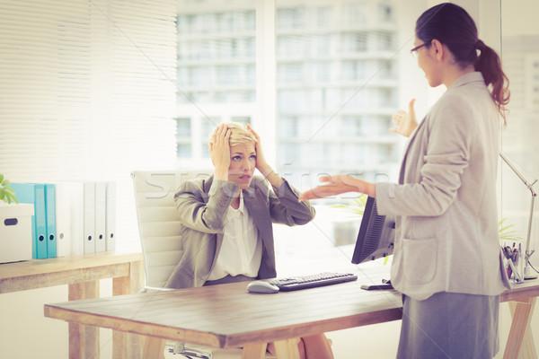 Businesswomen speaking  Stock photo © wavebreak_media
