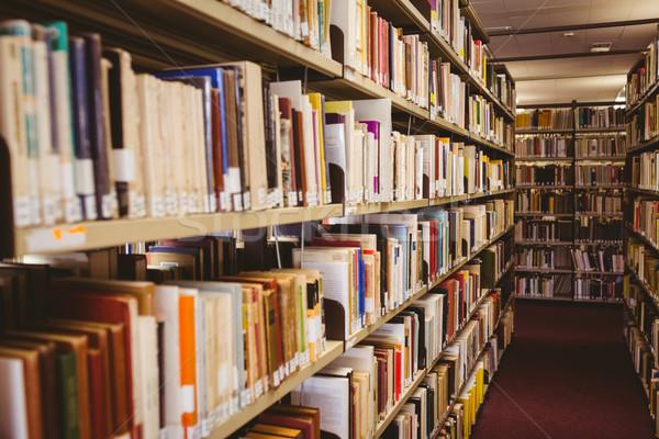 книжная полка библиотека книга школы образование Сток-фото © wavebreak_media