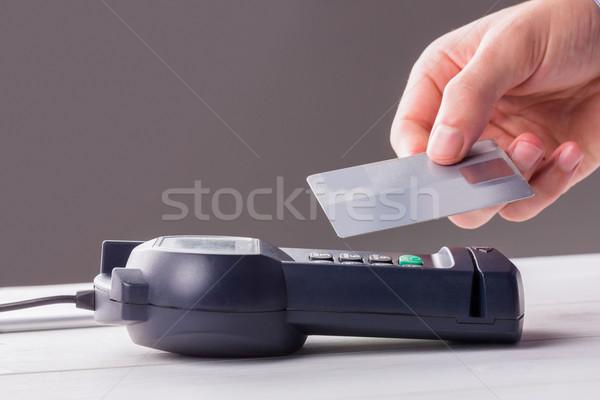Man using card to express pay  Stock photo © wavebreak_media
