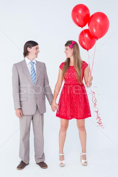улыбаясь пару Постоянный стороны белый человека Сток-фото © wavebreak_media