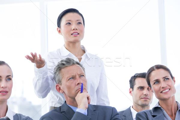 Zespół firmy spotkanie biuro kobieta garnitur zespołu Zdjęcia stock © wavebreak_media
