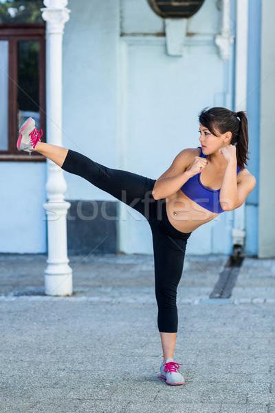 Athletic woman doing martial arts Stock photo © wavebreak_media