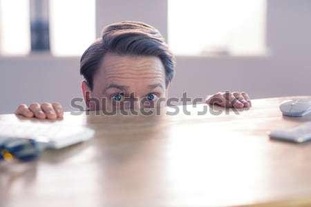 Sinir işadamı büro ofis yaprak takım elbise Stok fotoğraf © wavebreak_media