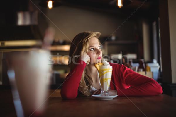 女性 ビジネス レストラン 表 ドリンク ストックフォト © wavebreak_media