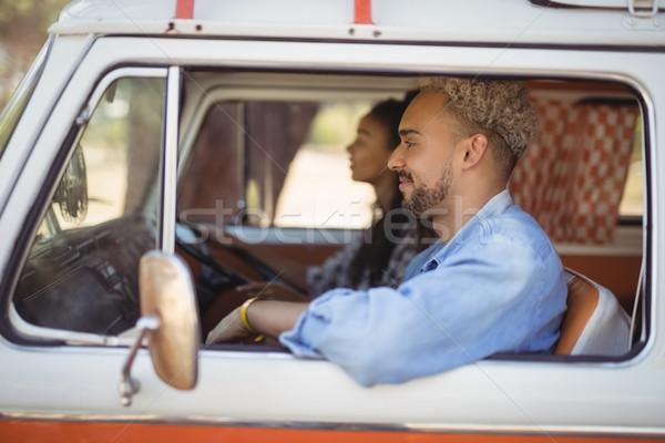 Kobieta człowiek jazdy van młoda kobieta mężczyzna Zdjęcia stock © wavebreak_media