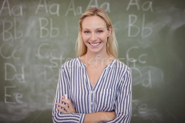 肖像 幸せ 教師 立って 教室 ストックフォト © wavebreak_media