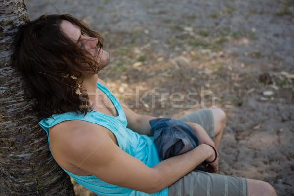 Unconscious man sleeping in the park Stock photo © wavebreak_media