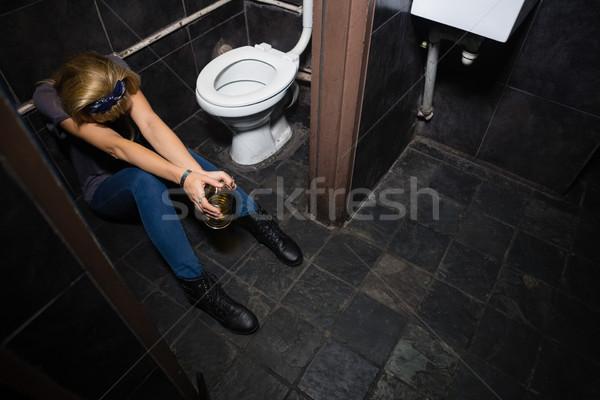 Woman sleeping in the washroom Stock photo © wavebreak_media