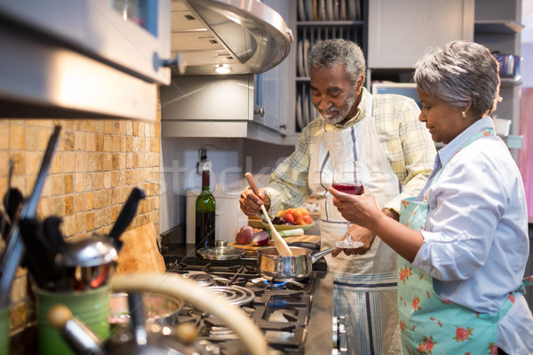 кухне домой продовольствие пить Сток-фото © wavebreak_media