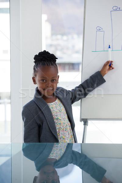 Portré üzletasszony bemutató konferenciaterem iroda számítógép Stock fotó © wavebreak_media