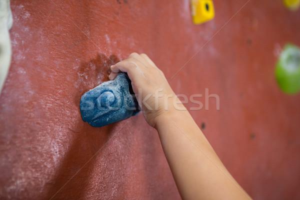 Nino escalada fitness estudio primer plano Foto stock © wavebreak_media