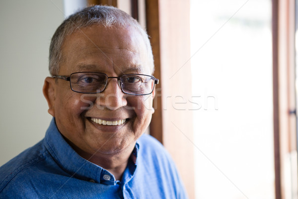 Portrait of happy senior man at nursing home Stock photo © wavebreak_media