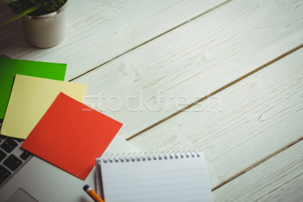 Overhead view of an desk Stock photo © wavebreak_media