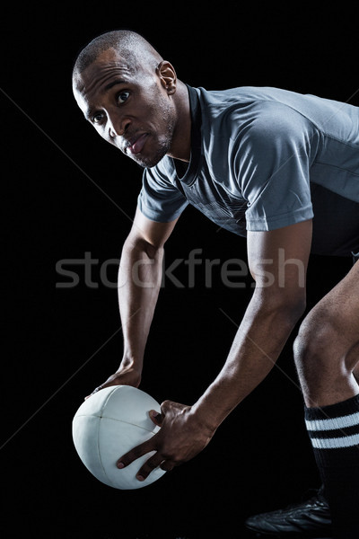 Rugby joueur balle noir Photo stock © wavebreak_media