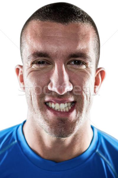 Portrait of rugby player clenching teeth Stock photo © wavebreak_media