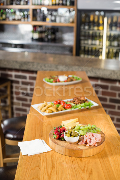 Food laid out on table Stock photo © wavebreak_media