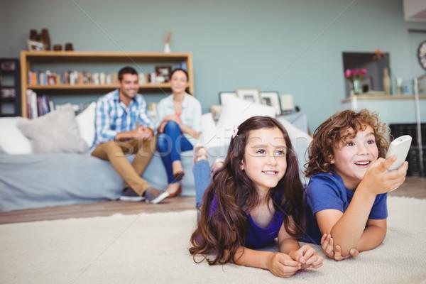 счастливым детей удаленных родителей домой Сток-фото © wavebreak_media