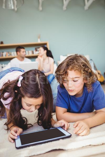Close-up of siblings using digital tablet Stock photo © wavebreak_media